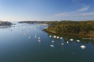 L'embouchure de l'Odet et le port de Bénodet