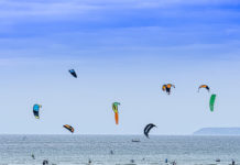 Sport de glisse nautique kitesurf
