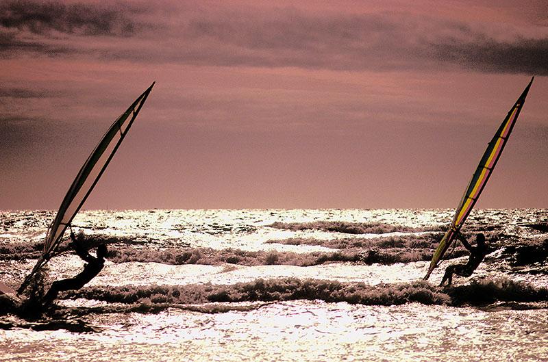 Sport nautique planche à voile